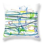 Modern Drawing Eighty-seven Throw Pillow