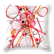 Modern Drawing Fifty-four Throw Pillow