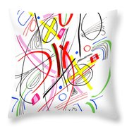 Modern Drawing Fifty-three Throw Pillow