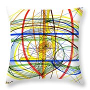 Modern Drawing Fourteen Throw Pillow