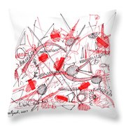 Modern Drawing Ninety-five Throw Pillow