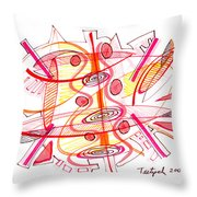 Modern Drawing Seventy-four Throw Pillow