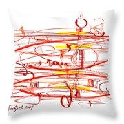 Modern Drawing Seventy Throw Pillow