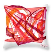 Modern Drawing Seventy-one Throw Pillow