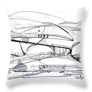 Modern Drawing Seventy-six Throw Pillow