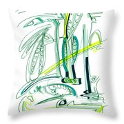 Modern Drawing Sixty-four Throw Pillow