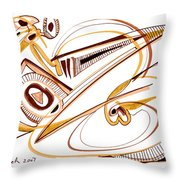 Modern Drawing Twenty Throw Pillow