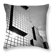 Modern Glass Building Throw Pillow