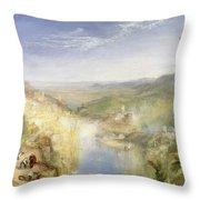 Modern Italy - The Pifferari, 1838 Throw Pillow