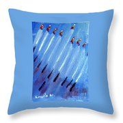 Modern Menorah Throw Pillow