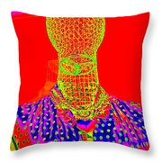Modern Mesh Mosaic Throw Pillow