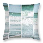 Modern Ocean Quad  Throw Pillow