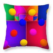 Modern Rain Throw Pillow