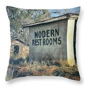 Modern Restrooms Throw Pillow