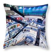 Modern Shopping Mall Interior Throw Pillow