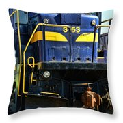 Modern Train Engine Throw Pillow