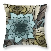 Modern Water Lily Throw Pillow