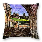 Modernist Painting Throw Pillow