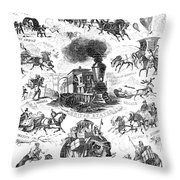 Modes Of Travelling Throw Pillow