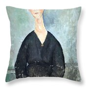 Modigliani's Cafe Singer Throw Pillow