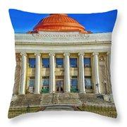 Modoc County California Courthouse Throw Pillow