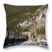 Moffat Tunnel East Portal At The Continental Divide In Colorado Throw Pillow