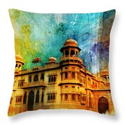 Mohatta Palace Throw Pillow by Catf