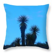 Mohave Blue Throw Pillow