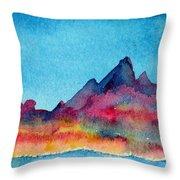 Mohave Mountains Throw Pillow