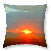 Mohave Sunset In Golden Valley Throw Pillow