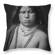 Mohave Woman Circa 1903 Throw Pillow by Aged Pixel