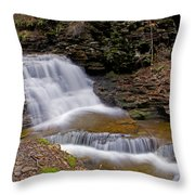 Mohican Falls In Spring Throw Pillow