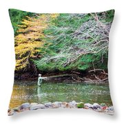 Mohican Fly Fishermen Throw Pillow