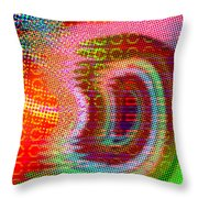 Moire No 4 Throw Pillow