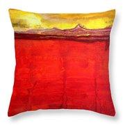 Mojave Dawn Original Painting Throw Pillow