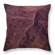 Mojave Desert Aerial Throw Pillow