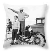 Mojave Desert Golf Course Throw Pillow