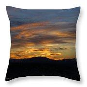 Mojave Desert Sunrise Throw Pillow