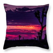Mojave Desert Sunrise Throw Pillow