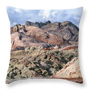Mojave Desert View - Valley Of Fire Throw Pillow