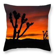 Mojave Morning Throw Pillow