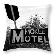 Mokee Motel Sign Circa 1950 Throw Pillow