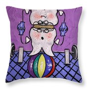 Molar Teeth Throw Pillow by Anthony Falbo