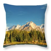 Molas Lake And The Needles Pan 1 Throw Pillow