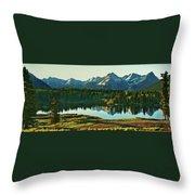 Molas Lake Sunrise Throw Pillow