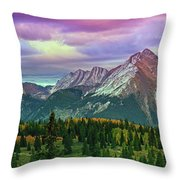 Molas Pass Sunset Panorama Throw Pillow