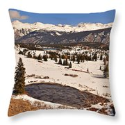 Molas Pass Winter Throw Pillow