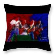 Molly Hatchet-gb23a-fractal Throw Pillow