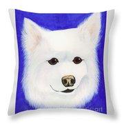 Molly The American Eskimo Dog Throw Pillow