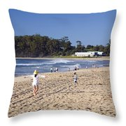 Mollymook Beach On The South Coast Of New South Wales Australia Throw Pillow